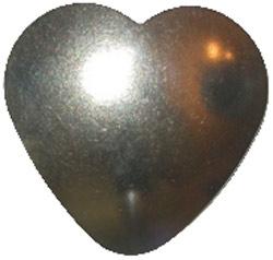 Nickel Silver Heart | As Cute As A Button